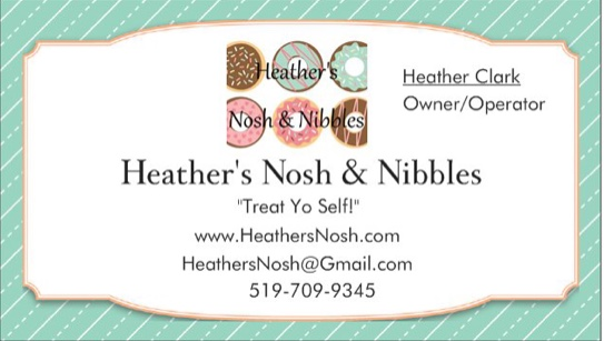 Heather's Nosh and Nibbles logo